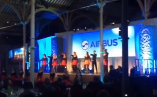 Damhsa perform for Airbus AGM at RDS